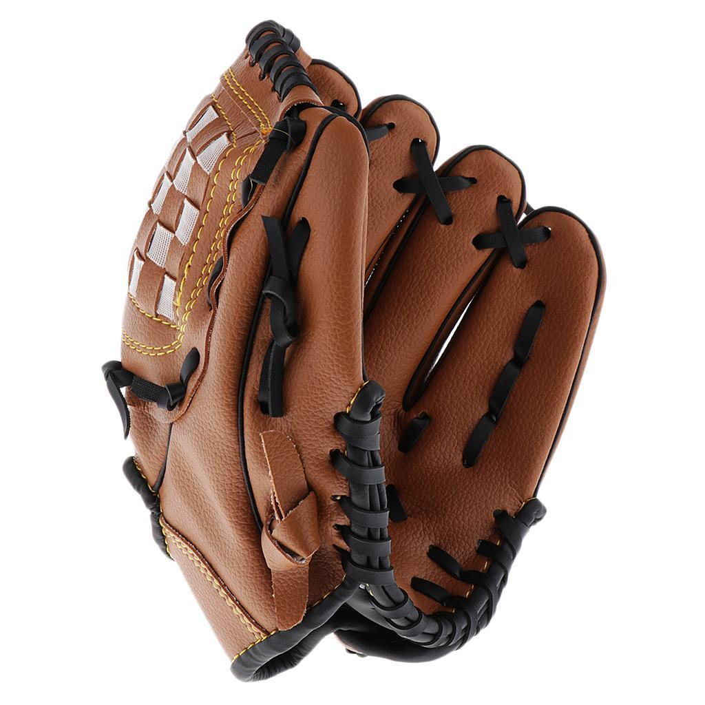 Baseball-Softball-Gloves-Wear-resistant-Mitts-Right-Hand-Thrower-Youth-Adult thumbnail 9