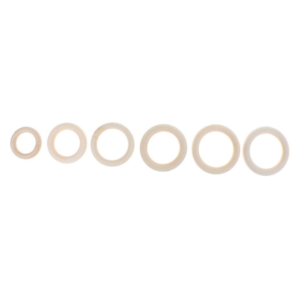 20pcs-Baby-Natural-Wood-Teething-Ring-Teether-Toy-Wooden-Bracelet-DIY-Crafts thumbnail 22