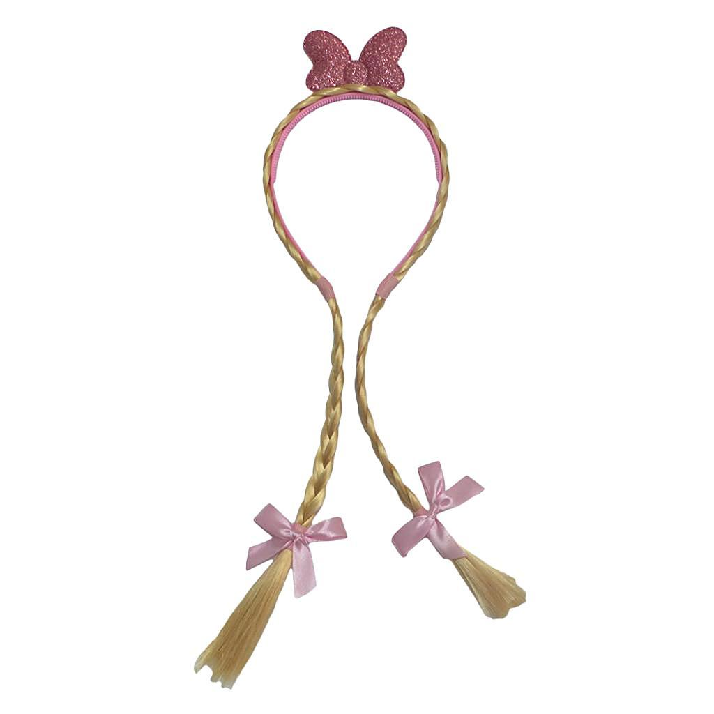 Baby-Kids-Headbands-Girls-Princess-Braid-Wig-Hair-Band-Hair-Accessories thumbnail 3