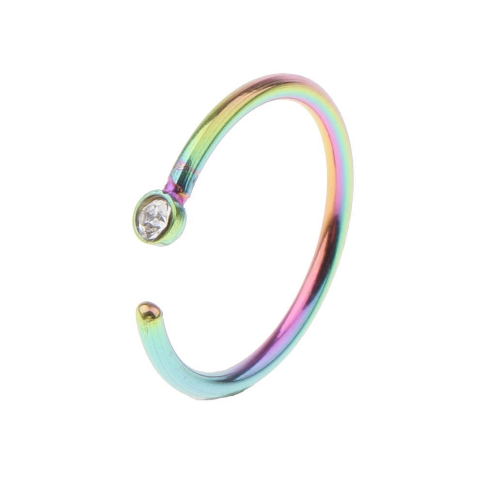 5x-Pairs-Piercing-Earrings-Nose-Ring-Piercing-Jewelry-Ornamenti-per-il-corpo miniatura 8