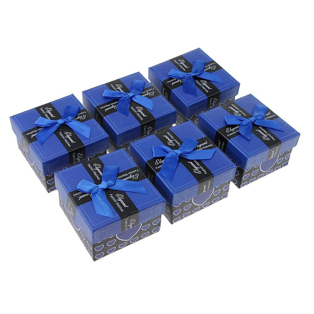 6pcs-Paper-Cardboard-Jewelry-Gift-Boxes-Watch-Ring-Earring-Bracelet-Storage thumbnail 18