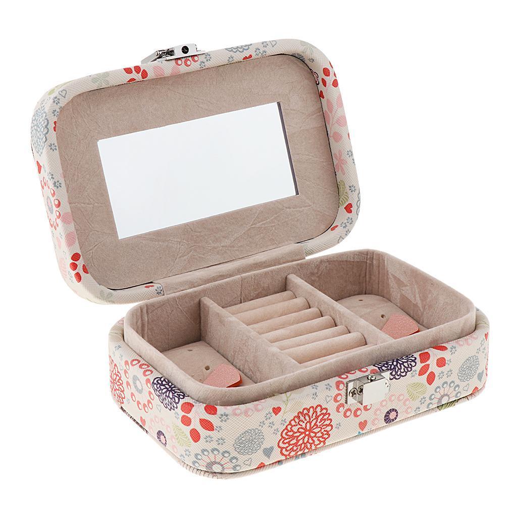 Portable-Women-Earring-Box-Display-Wedding-Jewelry-Travel-Box-Case-Small thumbnail 6