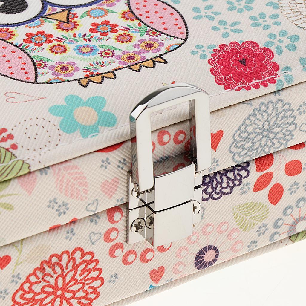 Portable-Women-Earring-Box-Display-Wedding-Jewelry-Travel-Box-Case-Small thumbnail 7
