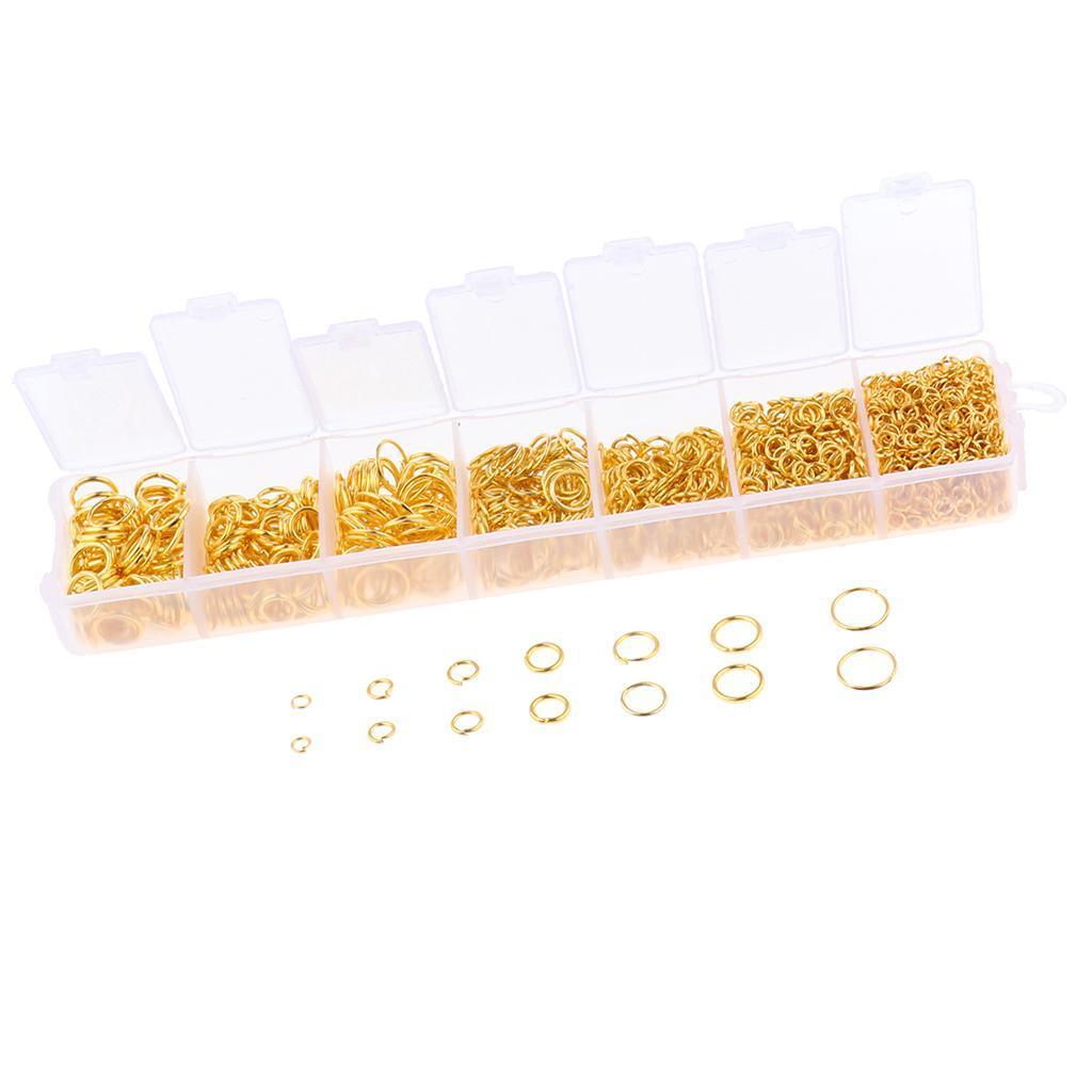 miniature 4 - Boîte de 1500 anneaux de sauts ouverts pour la fabrication de bijoux DIY