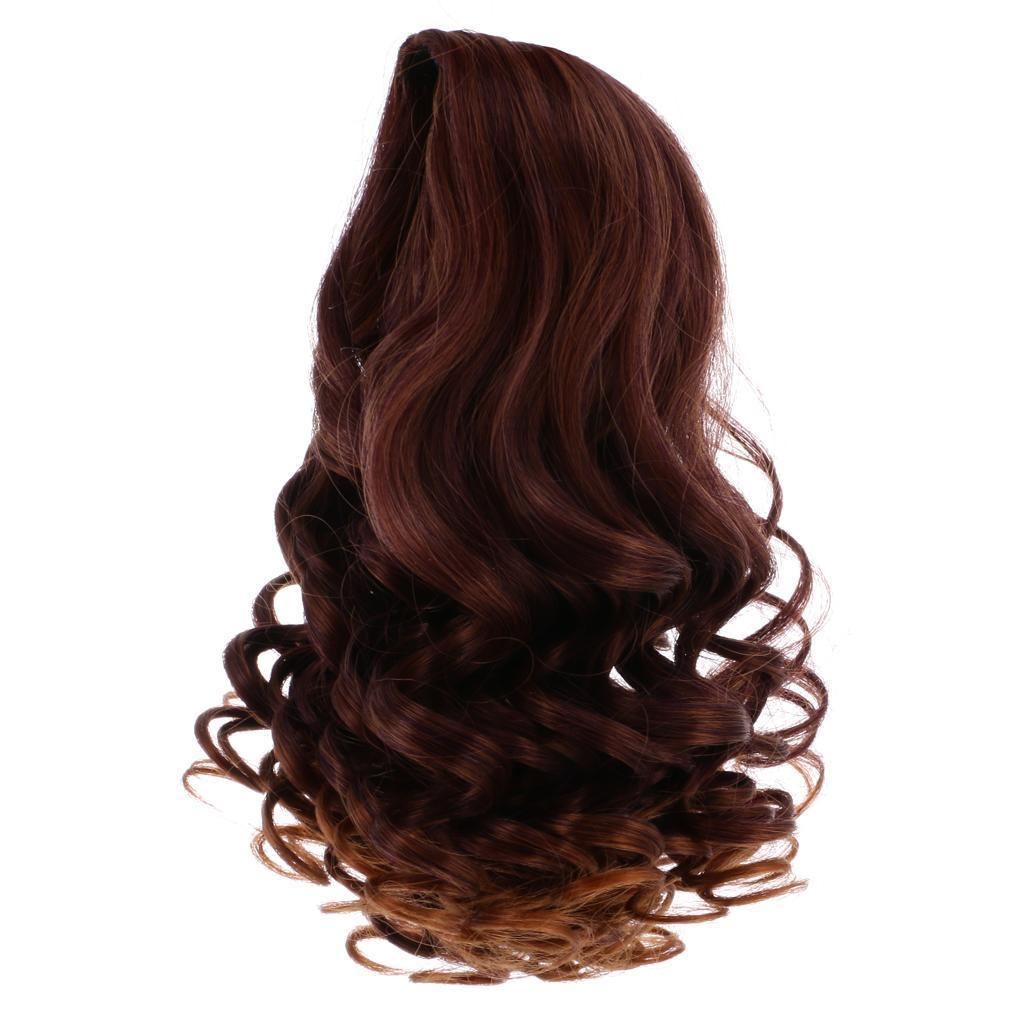 Straight-Gradient-Curly-Hair-Wig-for-18-039-039-Doll-Dress-up-Accessory thumbnail 16