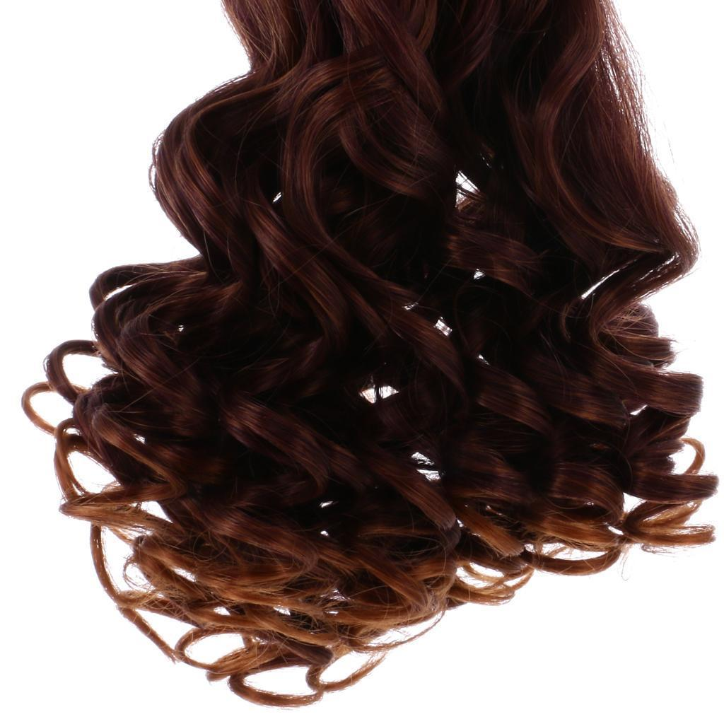 Straight-Gradient-Curly-Hair-Wig-for-18-039-039-Doll-Dress-up-Accessory thumbnail 15