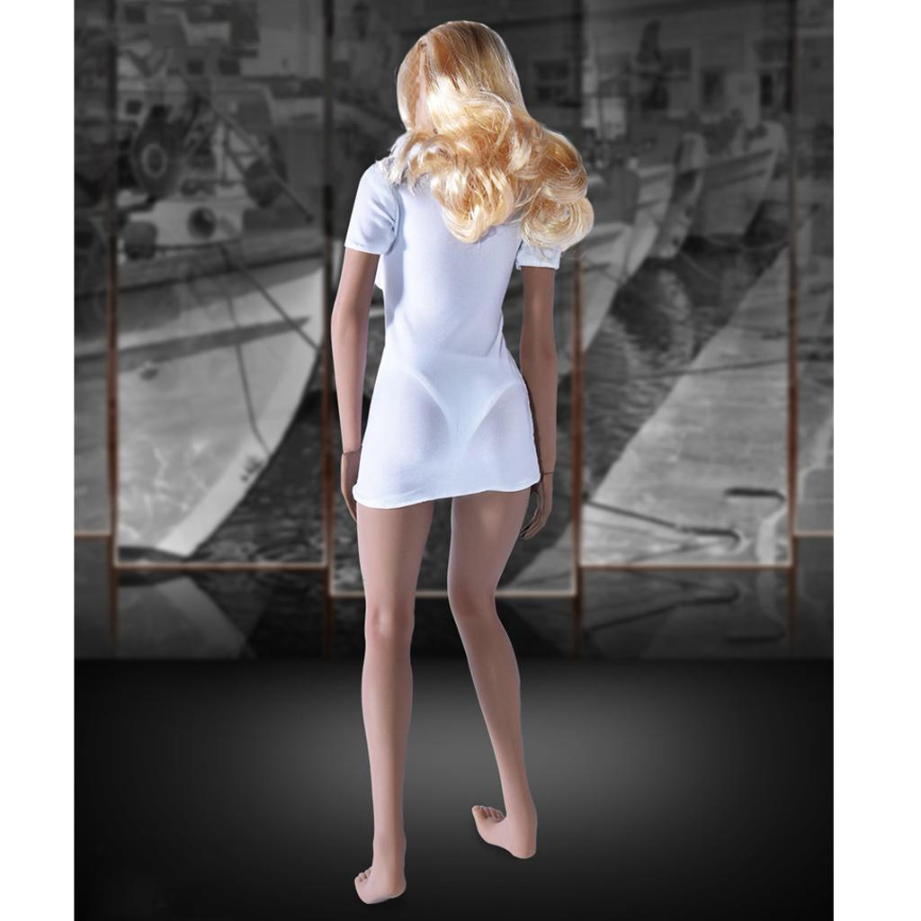 """1//6 Scale Denim Clothing Female Modern Lady Clothes Set for 12/"""" Figures Body"""