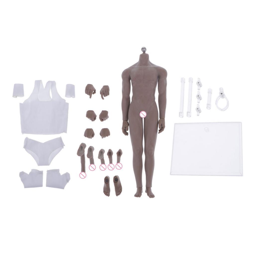 MagiDeal 1 6 Super-Flexible Muscle Male Stainless Steel  corpo for Phicen giocattolo  in vendita scontato del 70%