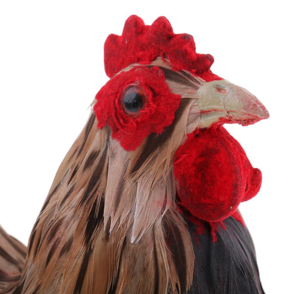 Lifelike-Chicken-Hen-Eggs-on-Nest-Farm-Animal-Model-Figurine-Toy-Home-Decoration thumbnail 12