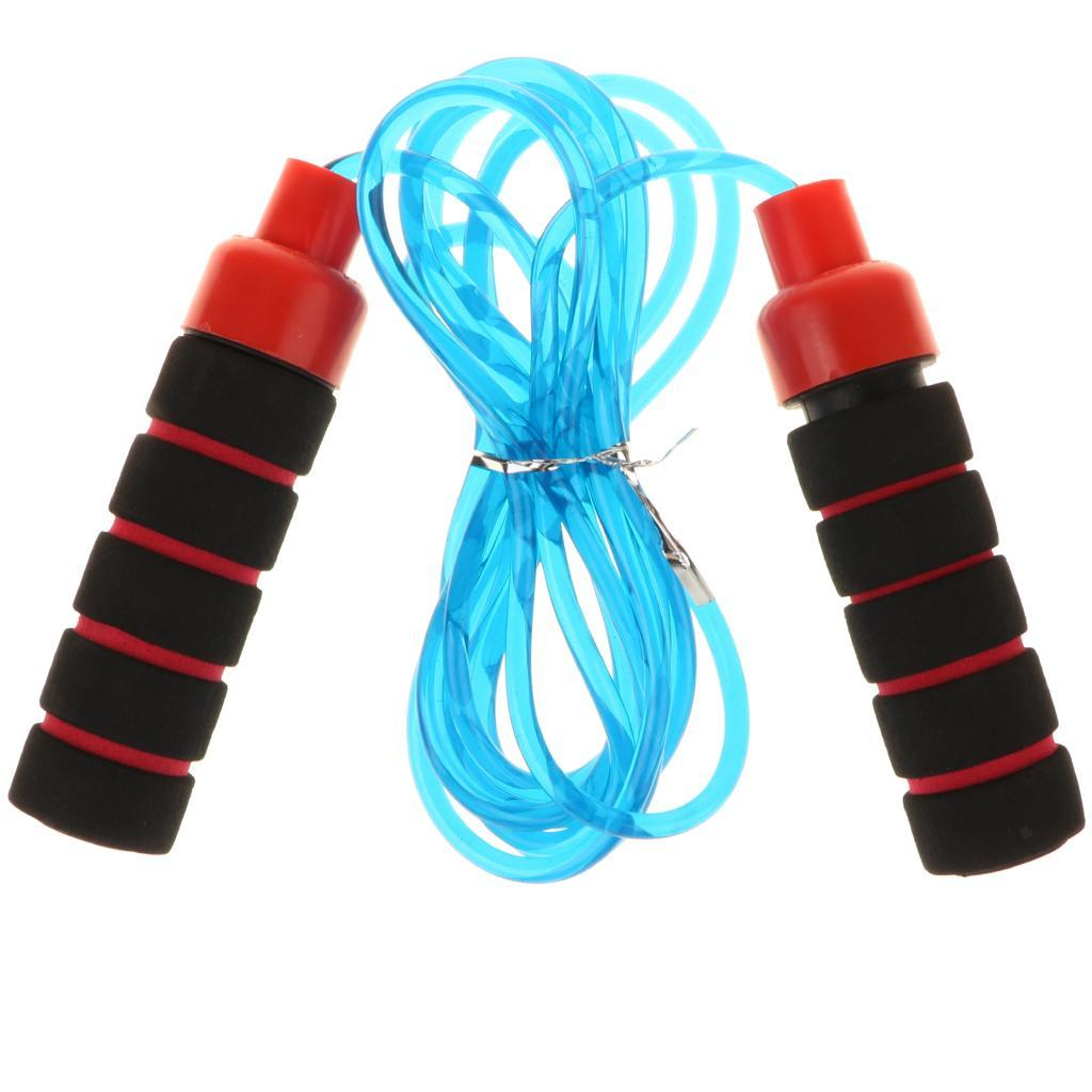 Aerobic-Exercise-PVC-Skipping-Jump-Rope-Boxing-Fitness-Sport-Gym-w-Foam-Handle thumbnail 3