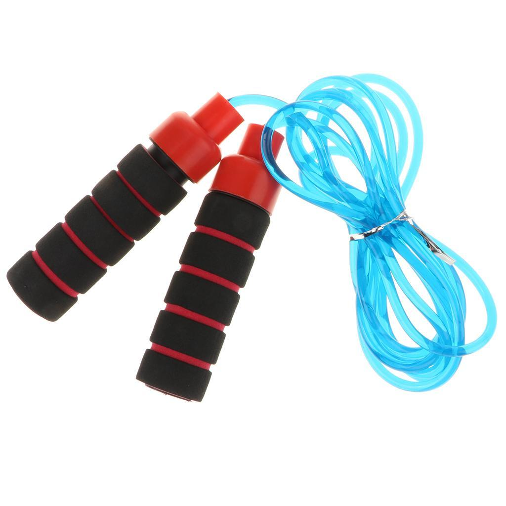 Aerobic-Exercise-PVC-Skipping-Jump-Rope-Boxing-Fitness-Sport-Gym-w-Foam-Handle thumbnail 5