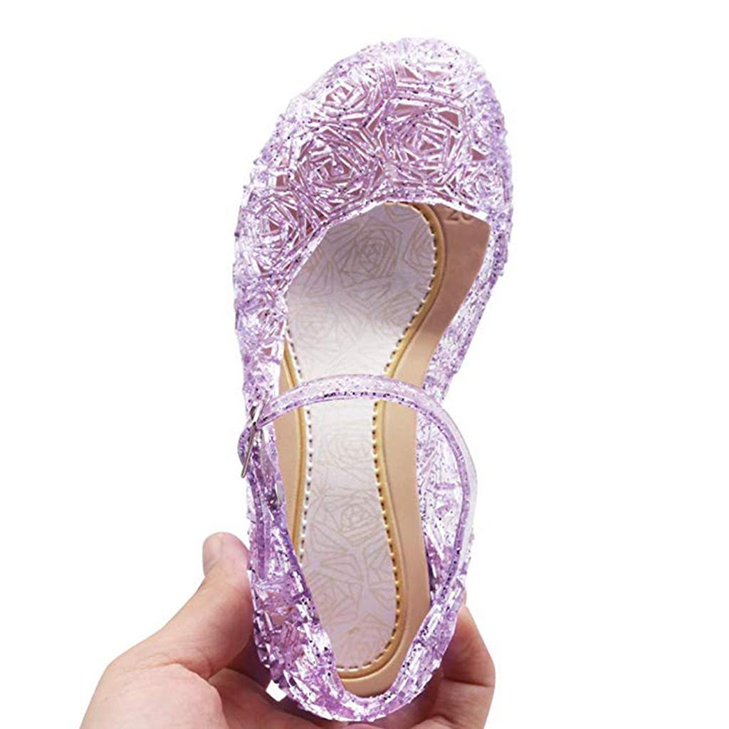 GIRLS JELLY SANDALS CHILDRENS  SUMMER HOLIDAY BEACH POOL HOUSE GARDEN CASUAL