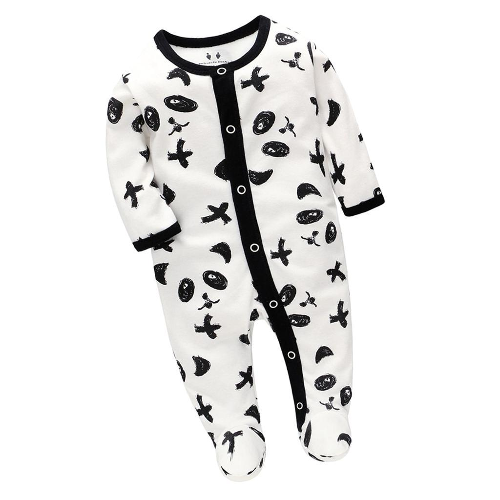 Unisex Baby Long Sleeve Bodysuits Infant Romper Jumpsuit for 0-7 Months
