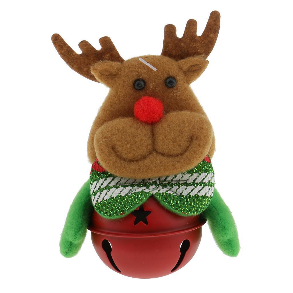 Peluche-Con-Campana-Pupazzo-Di-Neve-Babbo-Natale-Alce-Orso-Ornamenti-Per miniatura 15