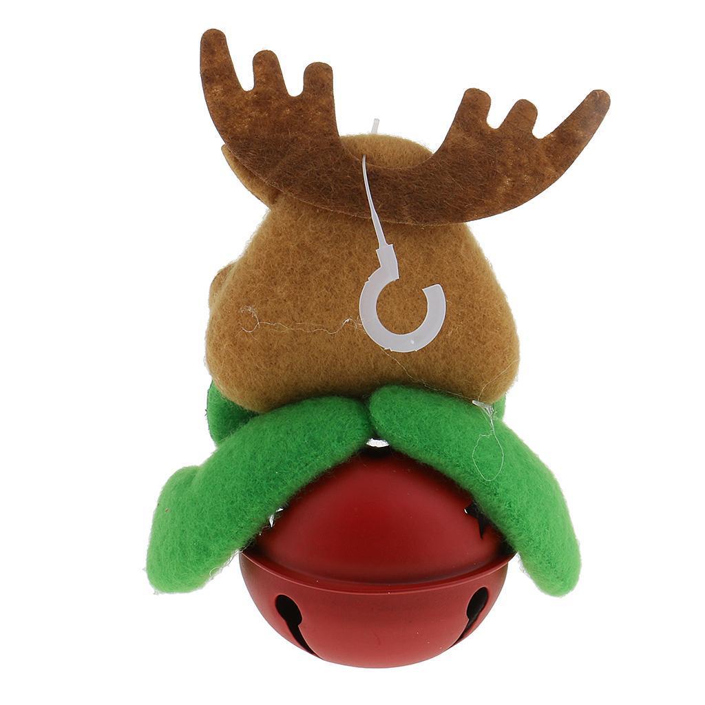 Peluche-Con-Campana-Pupazzo-Di-Neve-Babbo-Natale-Alce-Orso-Ornamenti-Per miniatura 13