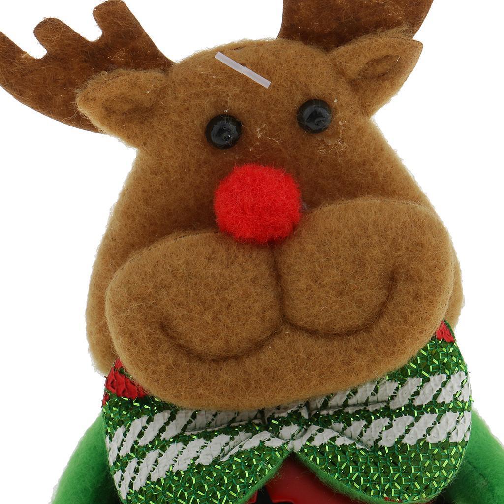 Peluche-Con-Campana-Pupazzo-Di-Neve-Babbo-Natale-Alce-Orso-Ornamenti-Per miniatura 14
