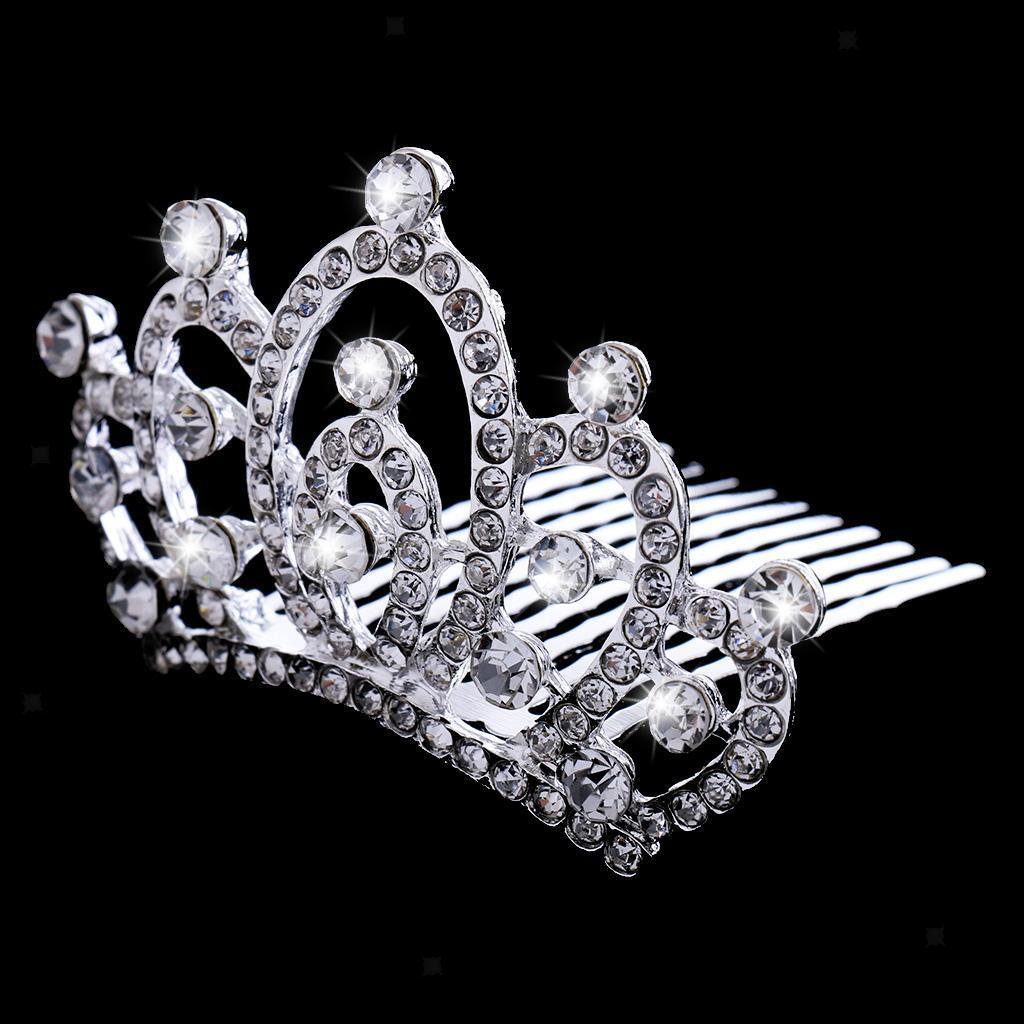 Princess-Crystal-Mini-Hair-Crown-Tiara-Hair-Comb-Girls-Woman-Wedding-Party-Gift thumbnail 43
