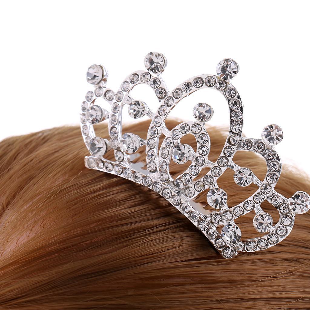 Princess-Crystal-Mini-Hair-Crown-Tiara-Hair-Comb-Girls-Woman-Wedding-Party-Gift thumbnail 36