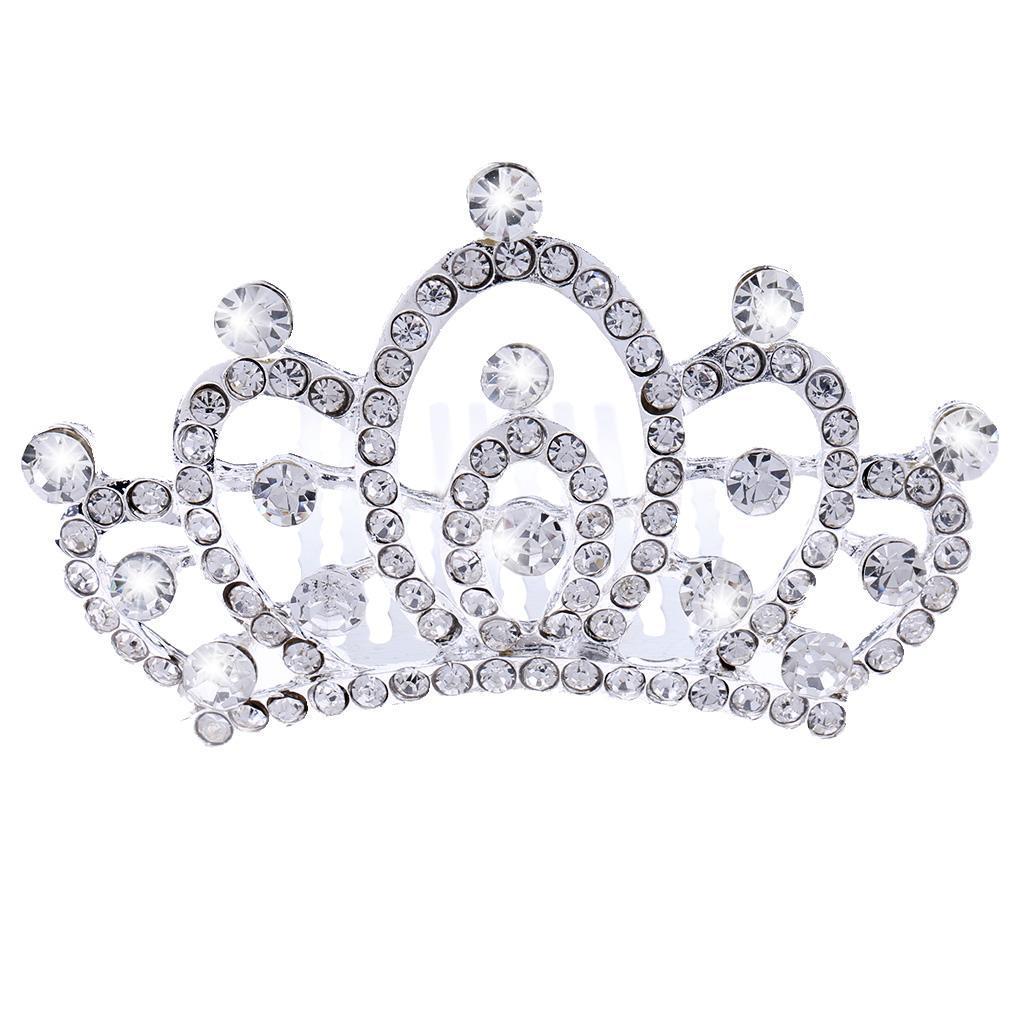 Princess-Crystal-Mini-Hair-Crown-Tiara-Hair-Comb-Girls-Woman-Wedding-Party-Gift thumbnail 37