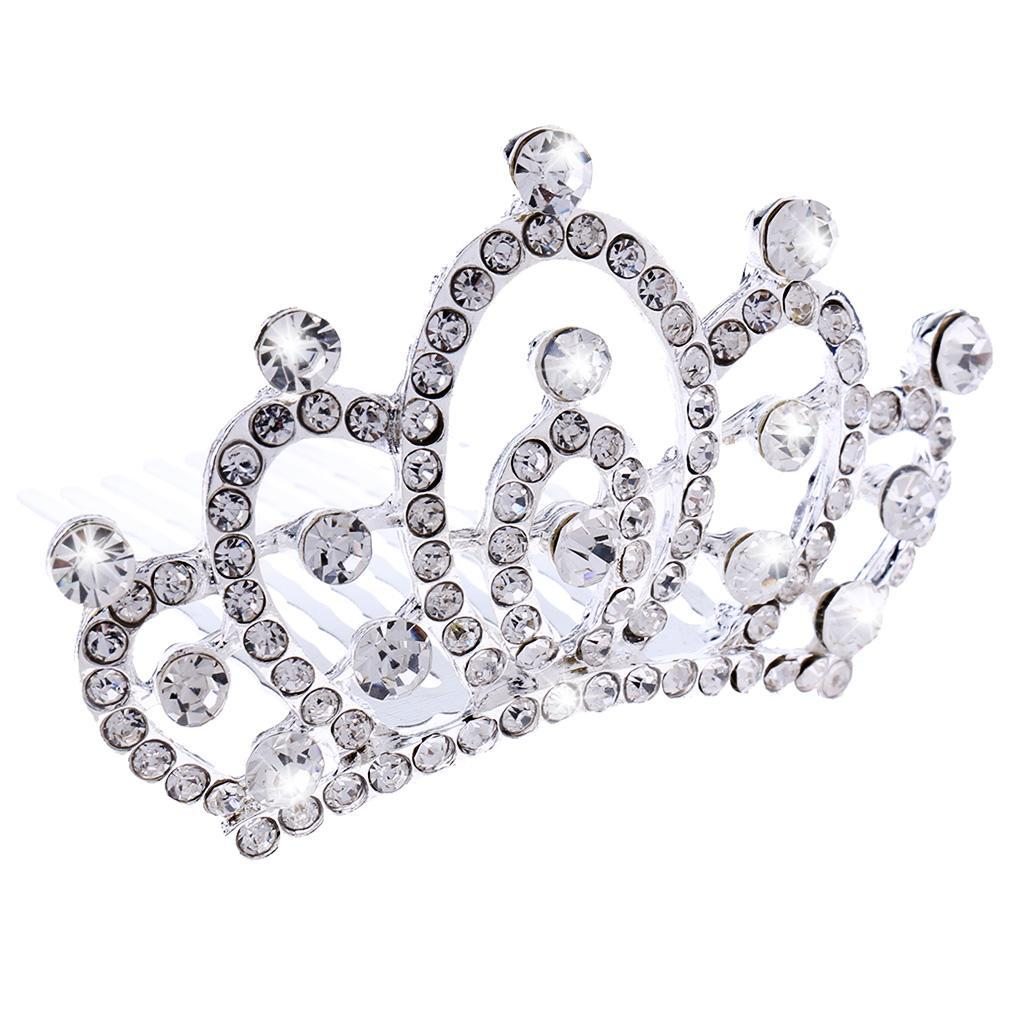 Princess-Crystal-Mini-Hair-Crown-Tiara-Hair-Comb-Girls-Woman-Wedding-Party-Gift thumbnail 38