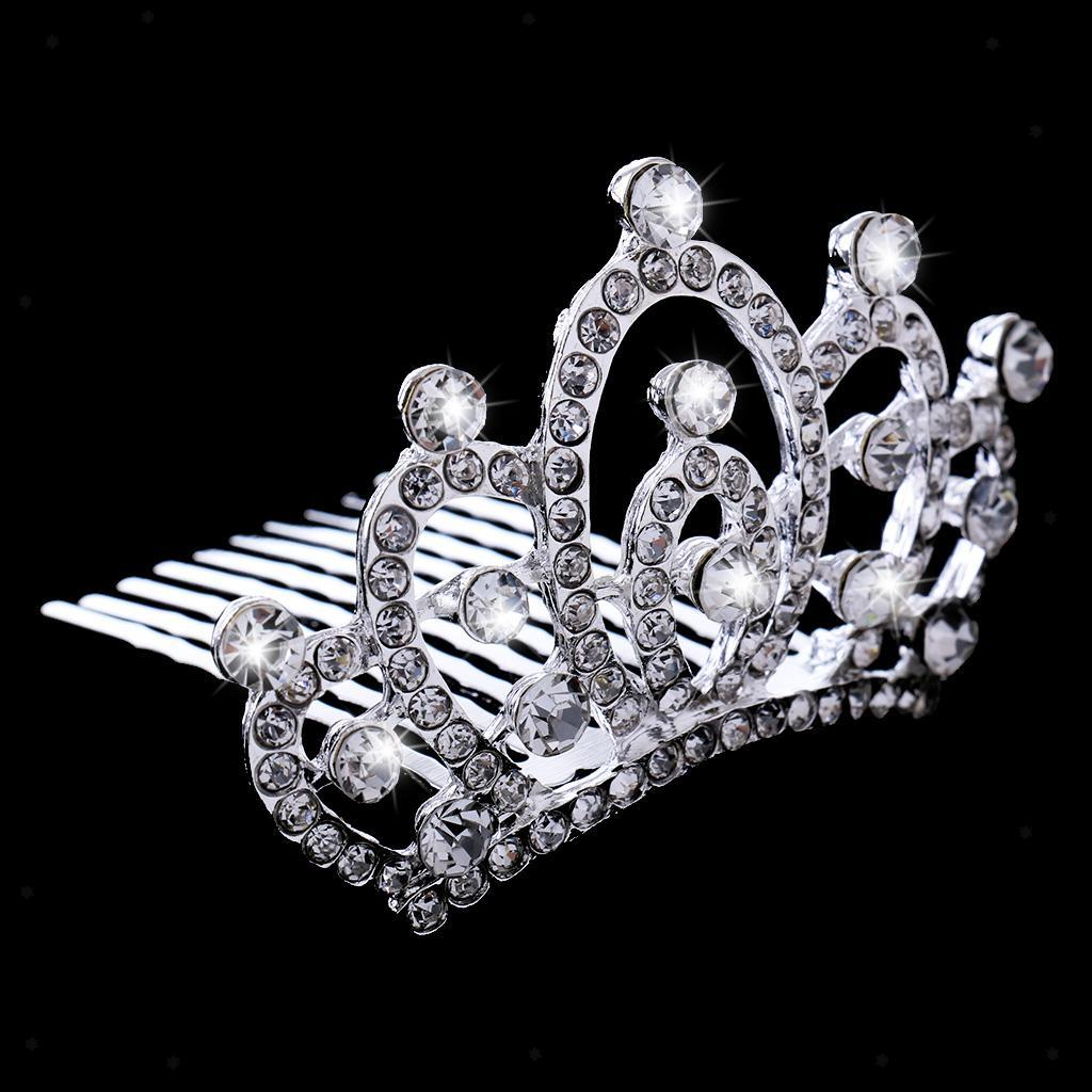 Crystal-Mini-Crown-Tiara-Girls-Woman-Fancy-Dress-Hair-Comb-Wedding-Party-Gift thumbnail 17