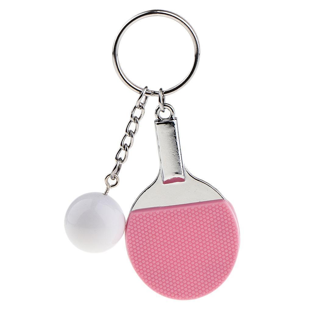 Ping-pong-Tennis-Da-Tavolo-Modello-Portachiavi-Ciondolo-Catena-Chiave miniatura 8