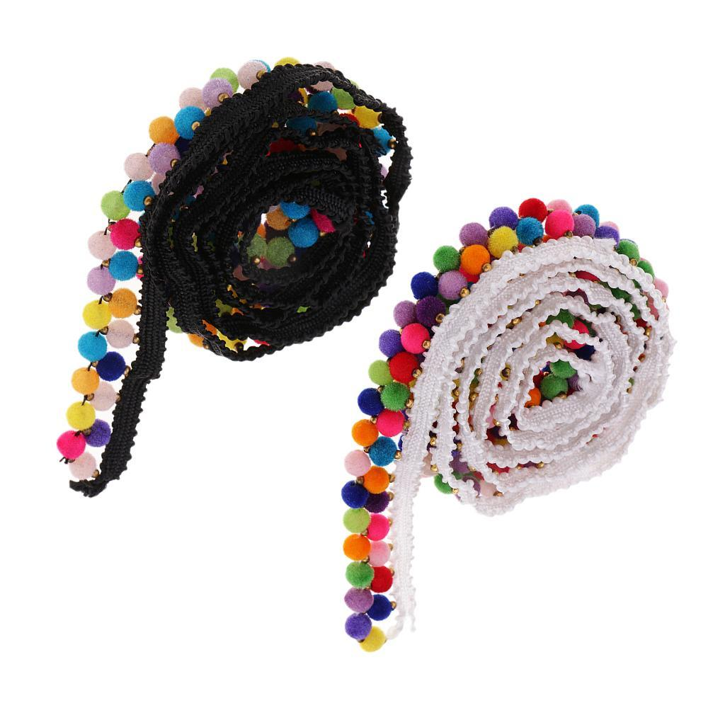 1yd-National-Style-Beaded-Tassel-Lace-Trim-Ribbon-Fringe-Drop-Sewing-Crafts thumbnail 4