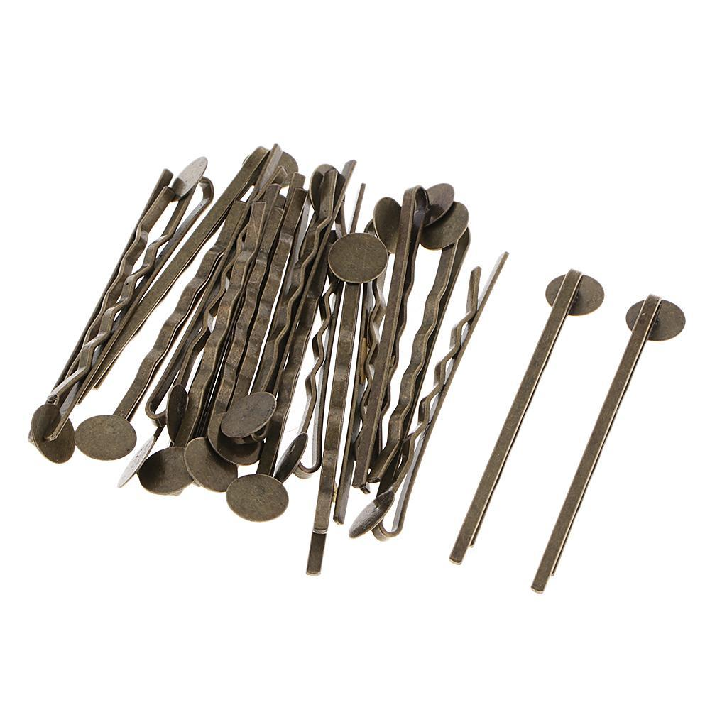 20pcs-Metal-Hair-Pin-Clip-Blanks-Glue-Pad-Findings-Craft-Choice-of-Colors thumbnail 7
