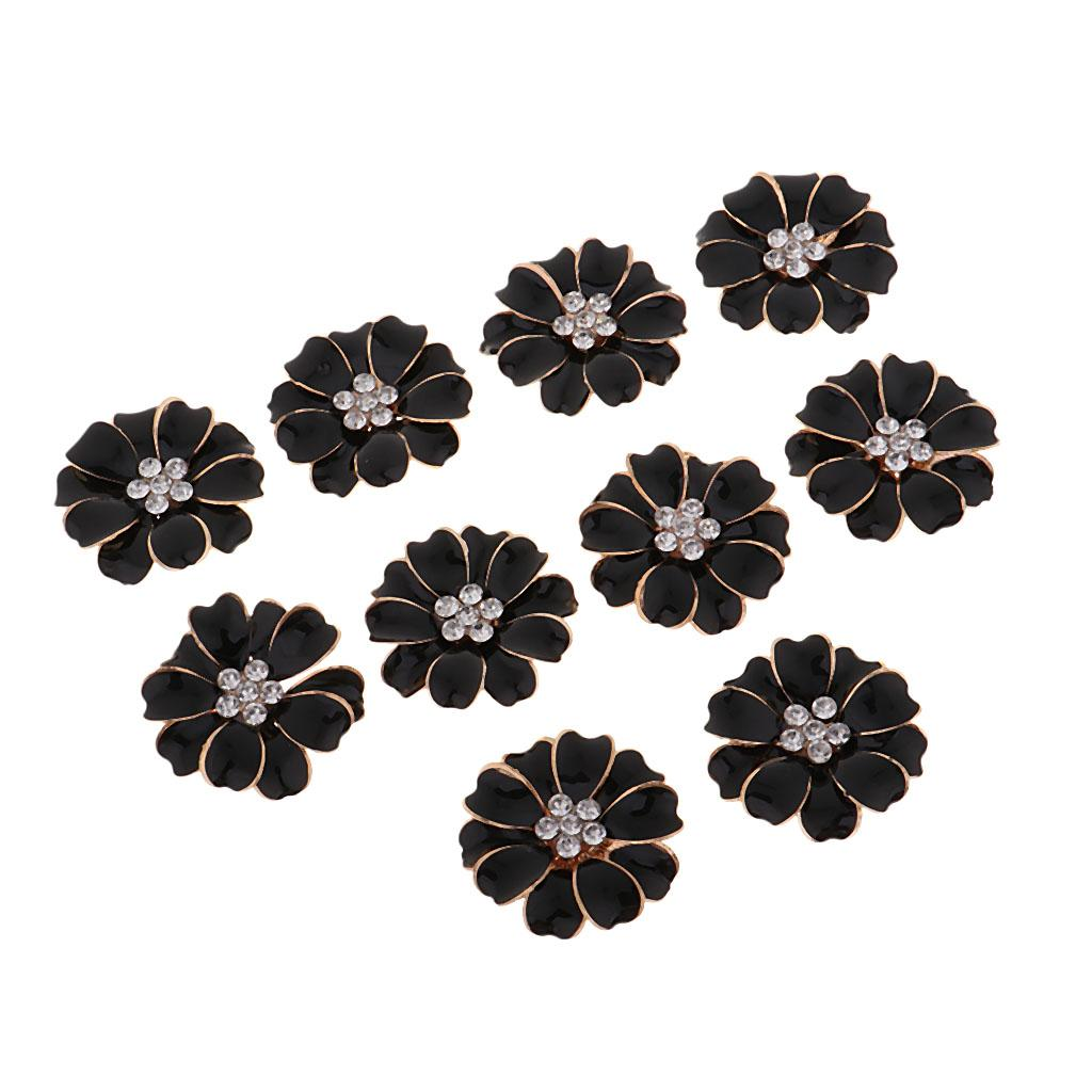 Hair Jewelry Earring Diy 10pcs Pearl Rhinestone Flatback Button for Brooch