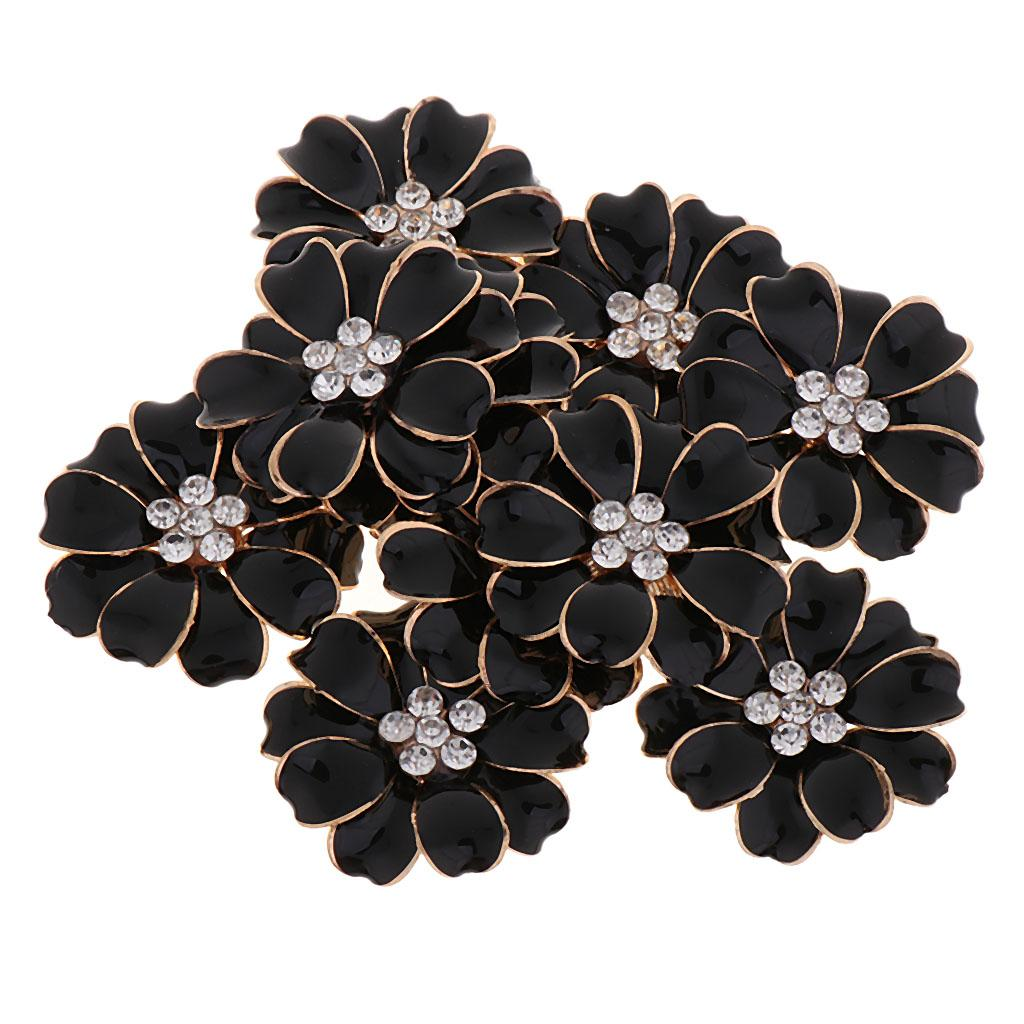 Earring 1# Hair Jewelry 10pcs Pearl Rhinestone Flatback Button for Brooch