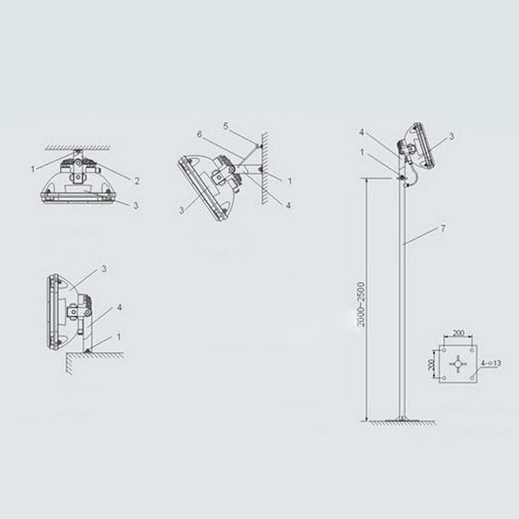 Projecteur-LED-Flood-Lights-Lumiere-D-039-inondation-Luminaires-Garage miniature 3