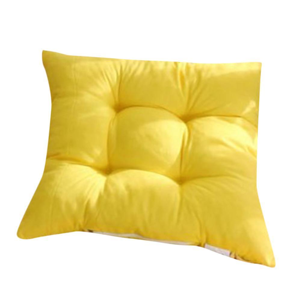 thumbnail 9 - Square-Chair-Cushion-Cushion-Pillow-for-Home-Office-14-Colors-40x40cm