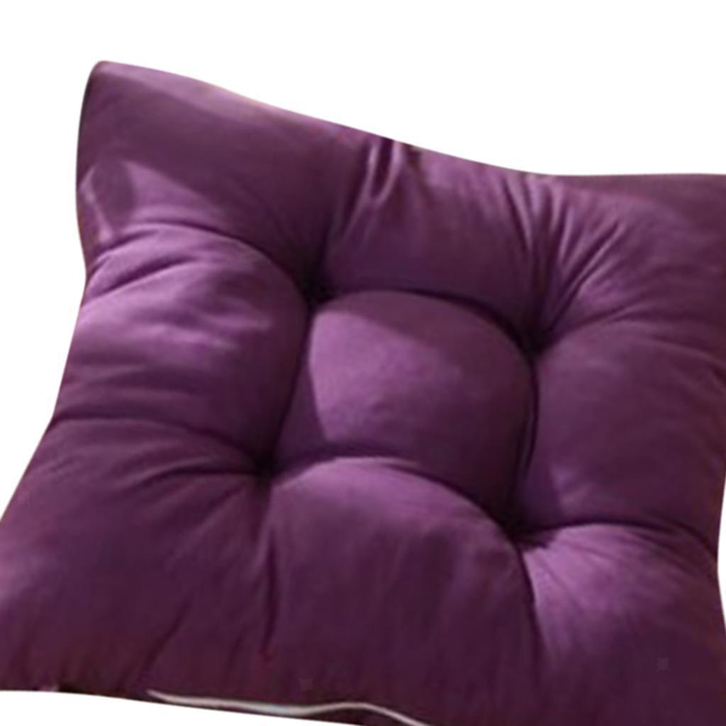 thumbnail 28 - Square-Chair-Cushion-Cushion-Pillow-for-Home-Office-14-Colors-40x40cm