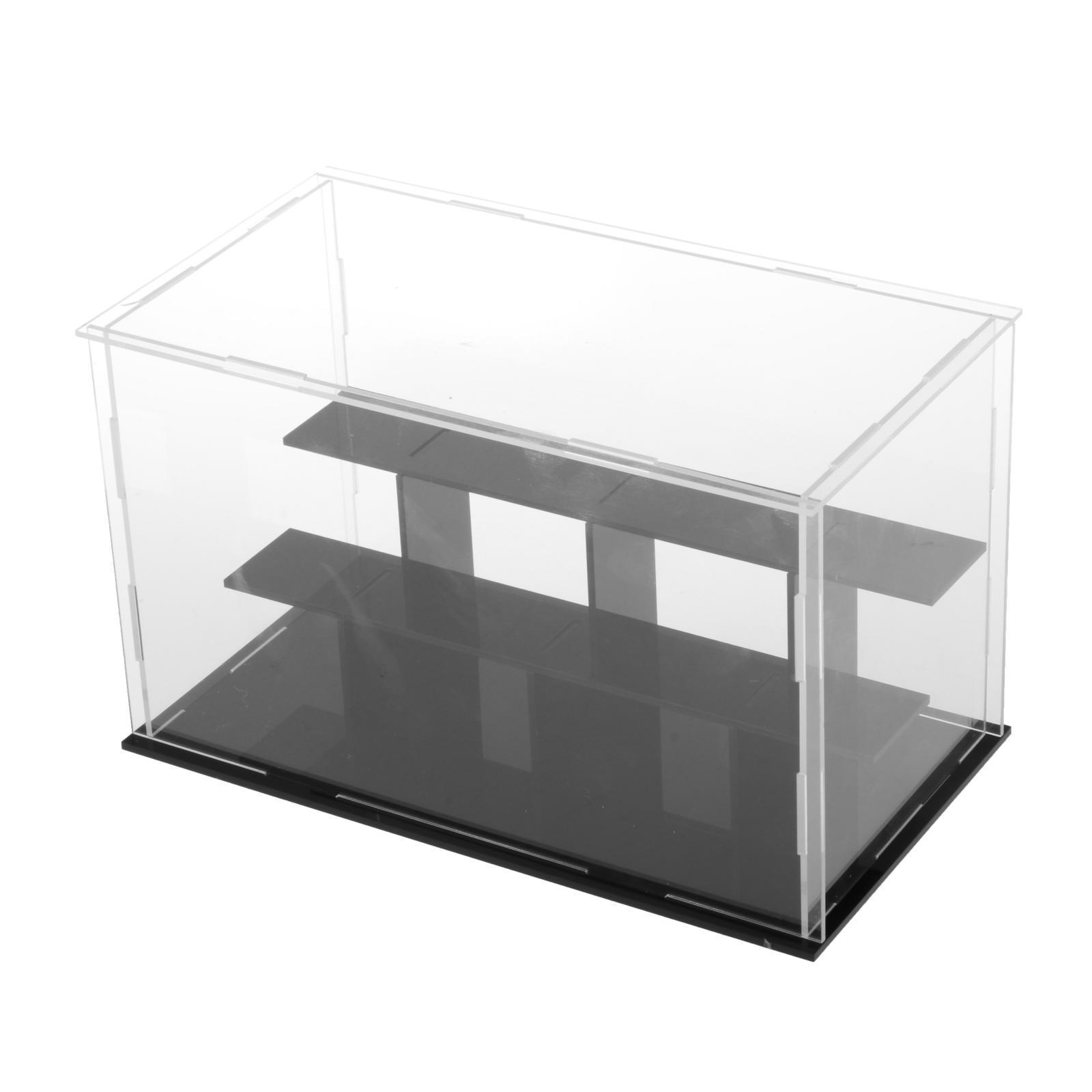 7x7x7cm Figuren HomeDecTime Acryl Einzelvitrine Vitrine Schaukasten Display Case Schutzbox f/ür Auto//Spielzeug Modell