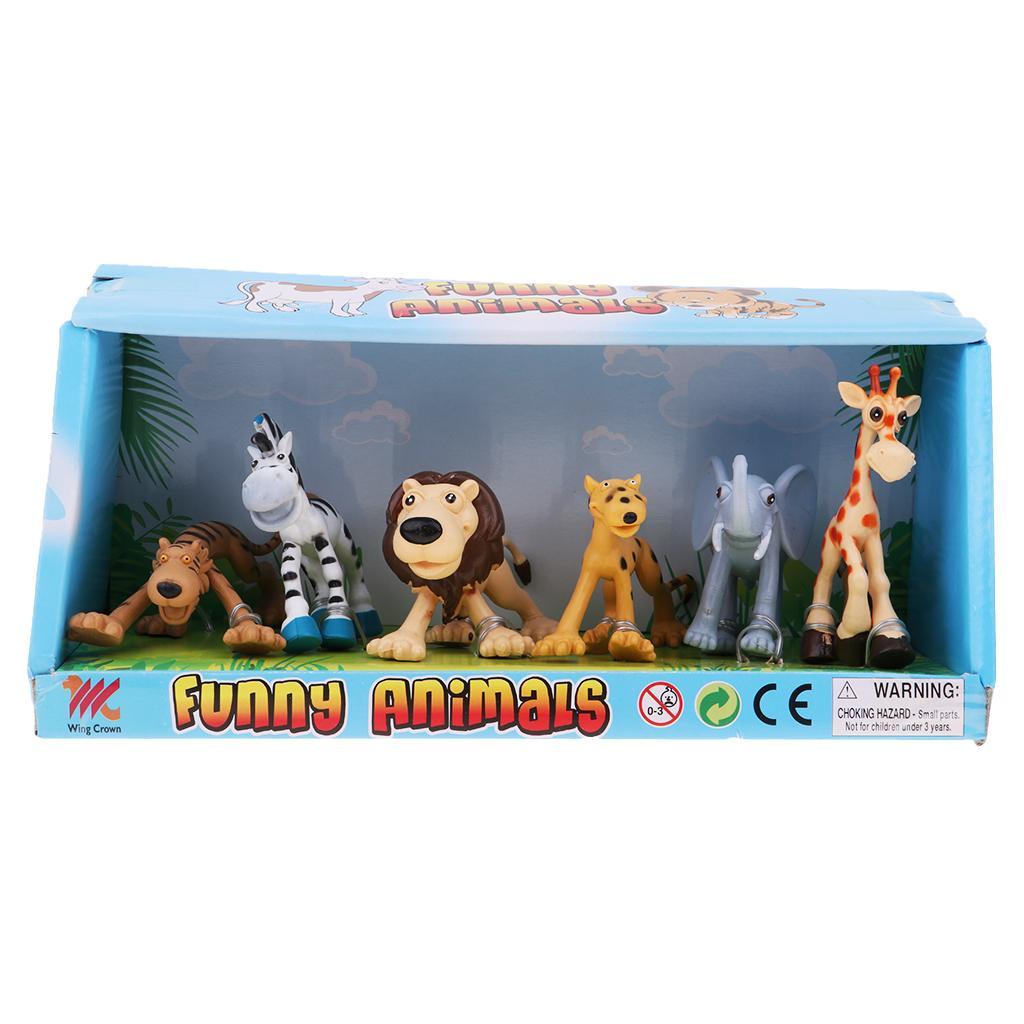 12x Jurassic Tyrannosaurus Family Wildlife Animal Lion Tiger Figuren Modell