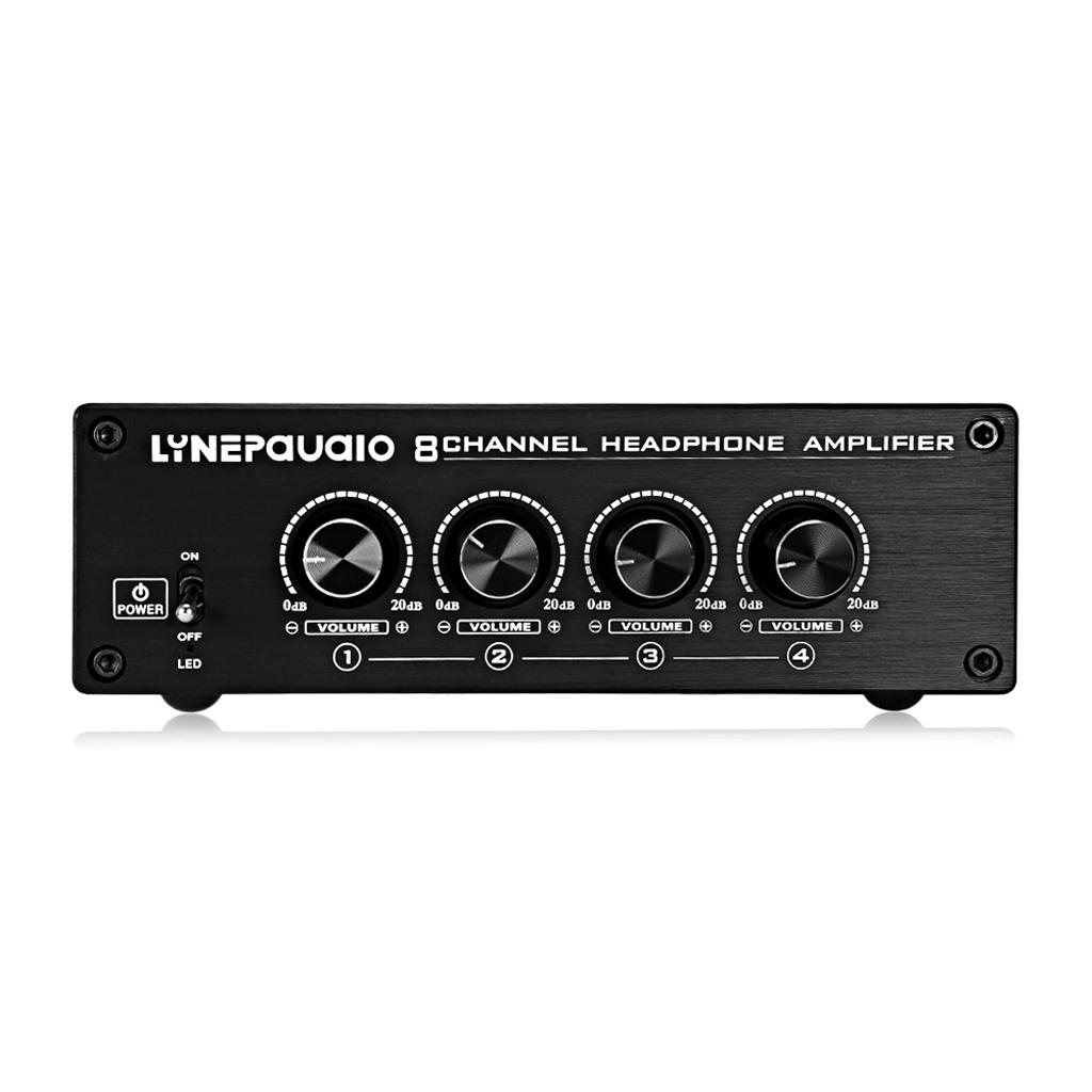 8 Channel Audio Stereo high-power Headphone Amplifier Mixer Monitor