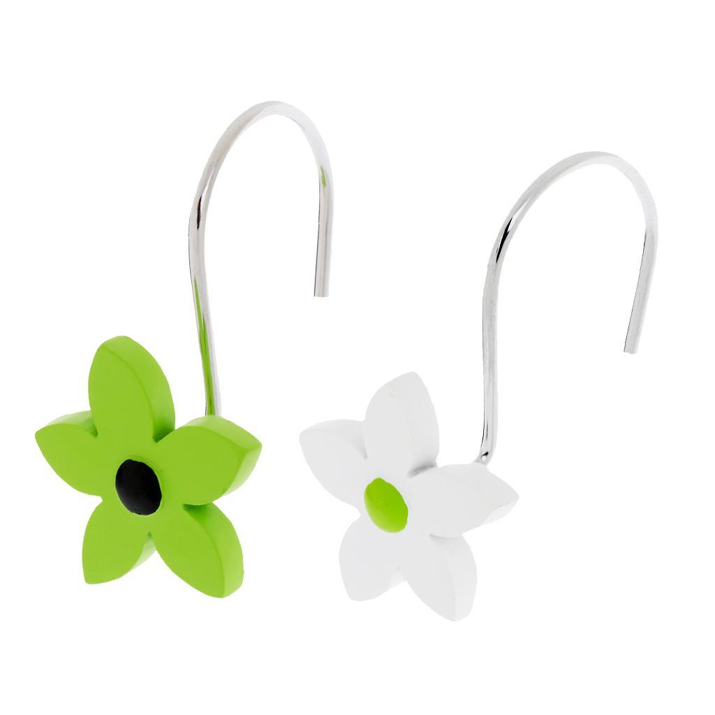 12-Pezzi-di-Ganci-Decorativi-Resina-Fiore-Doccia-Tenda-Gancio-Hook-Supporto miniatura 20