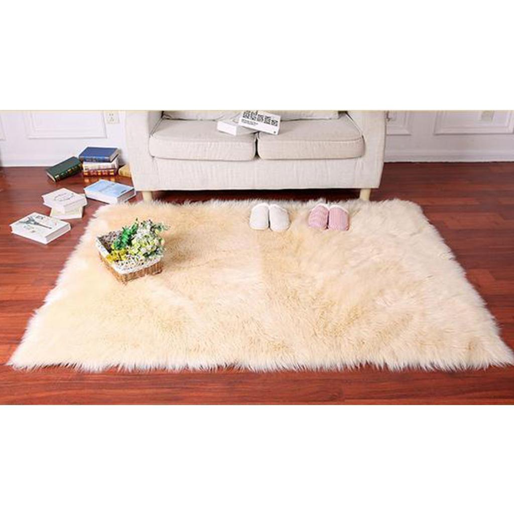 Artificial Sheepskin Area Rug Super Soft Fluffy Carpet