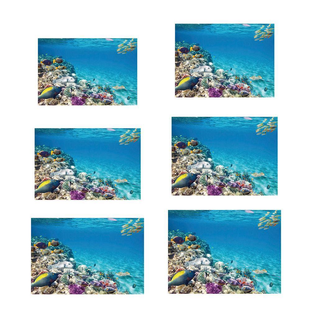Sfondo-Stampa-Adesivi-Monocromatici-Per-Acquario-Serbatoio-da-Pesca-in-PVC miniatura 3