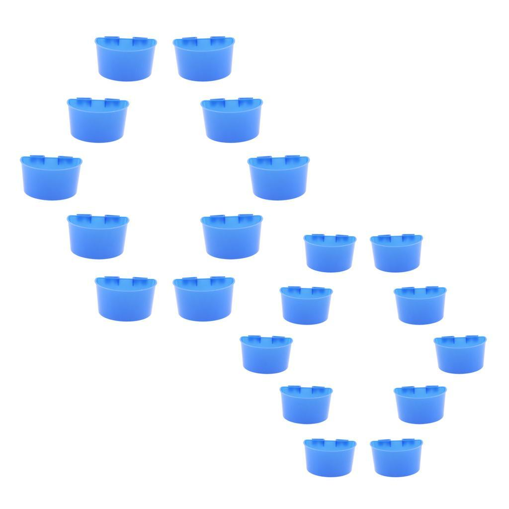10-Pcs-Pigeons-Feeding-Cups-Bird-Food-Water-Container-Plastic-Bowl-for-Cage thumbnail 4