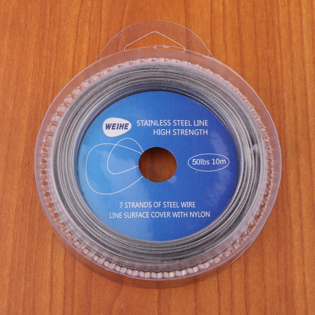 Perfeclan-Fishing-Line-Wire-Leader-Stainless-Steel-Trace-Lures-10m-7-Strands thumbnail 12