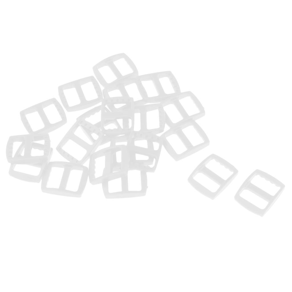 20-Pezzi-di-Fibbia-a-Tessitura-Webbing-Buckle-Accessori-di-Campeggio miniatura 18