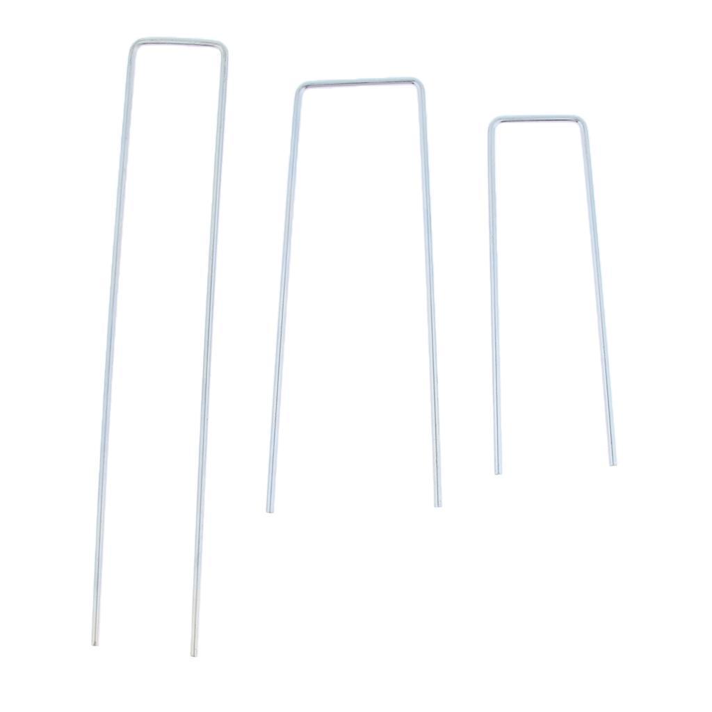 10x-Tent-Stake-U-Drawing-Metallo-Peg-Nails-Morsetti-Accessorio-per miniatura 5