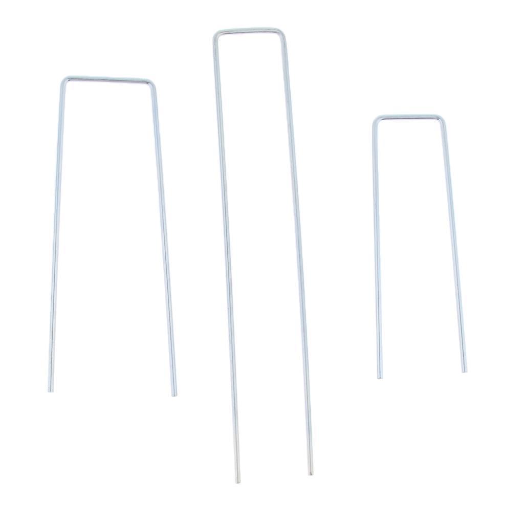 10x-Tent-Stake-U-Drawing-Metallo-Peg-Nails-Morsetti-Accessorio-per miniatura 6