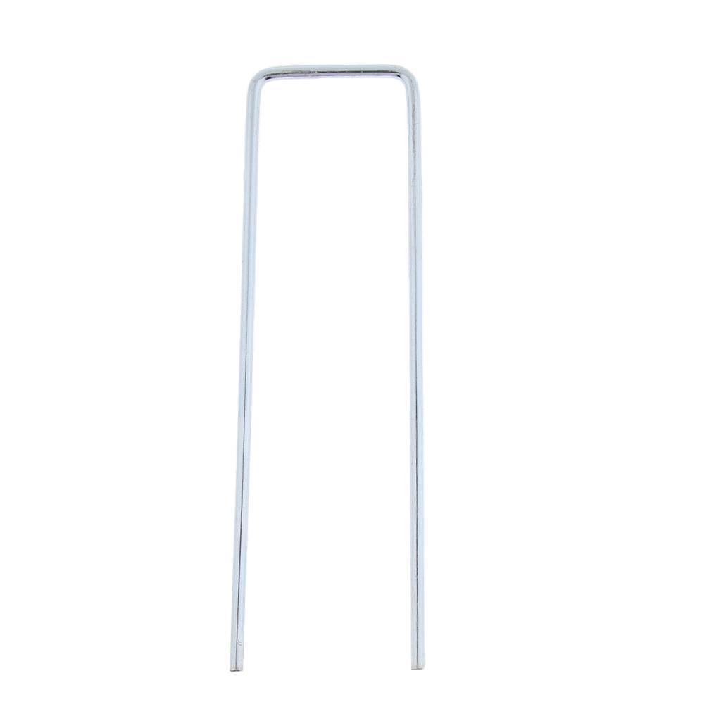 10x-Tent-Stake-U-Drawing-Metallo-Peg-Nails-Morsetti-Accessorio-per miniatura 3