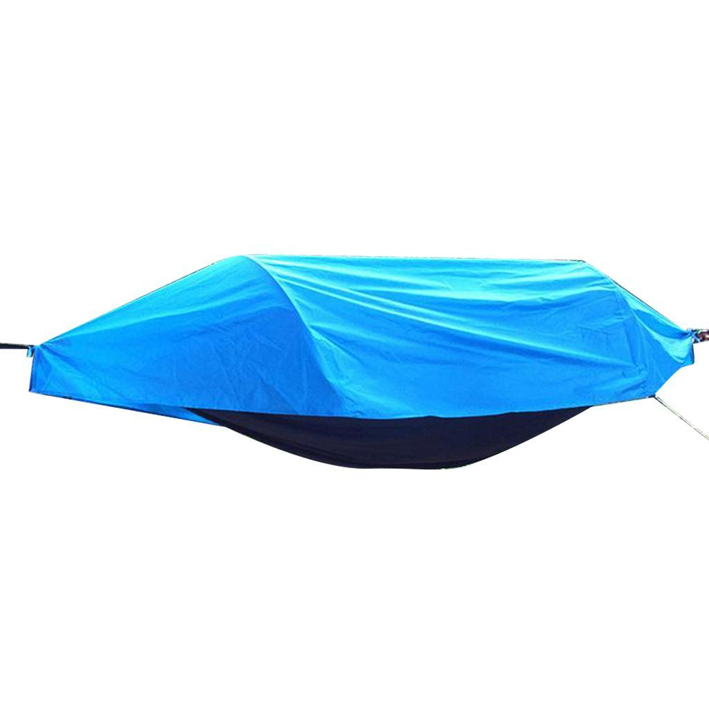 Travel-Outdoor-Camping-Tent-Hanging-Hammock-Bed-with-Mosquito-Net-amp-Rainfly thumbnail 5