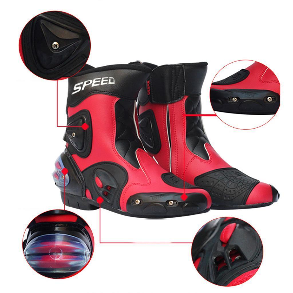 Bottes-de-Moto-Mode-Touring-Chaussures-d-039-Equitation miniature 31