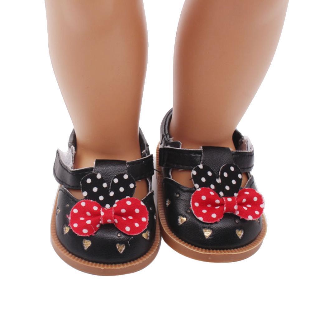 Vetement-de-Poupee-Chaussures-Animes-en-Cuir-PU-Decoration-pour-Poupees miniature 9