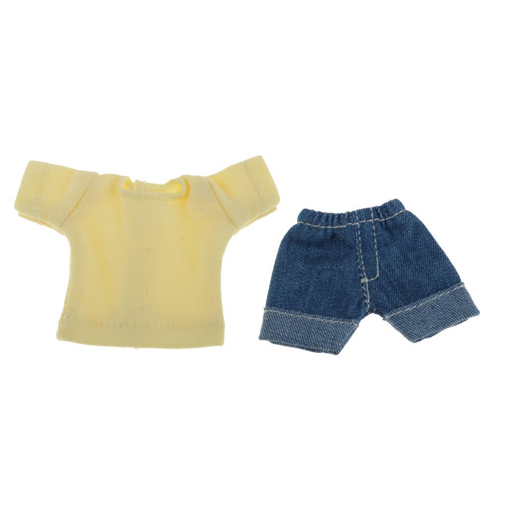 Handgemachte Puppenkleidung Jeans Hose Für OB11 Mini Blythe Puppe Zubehör