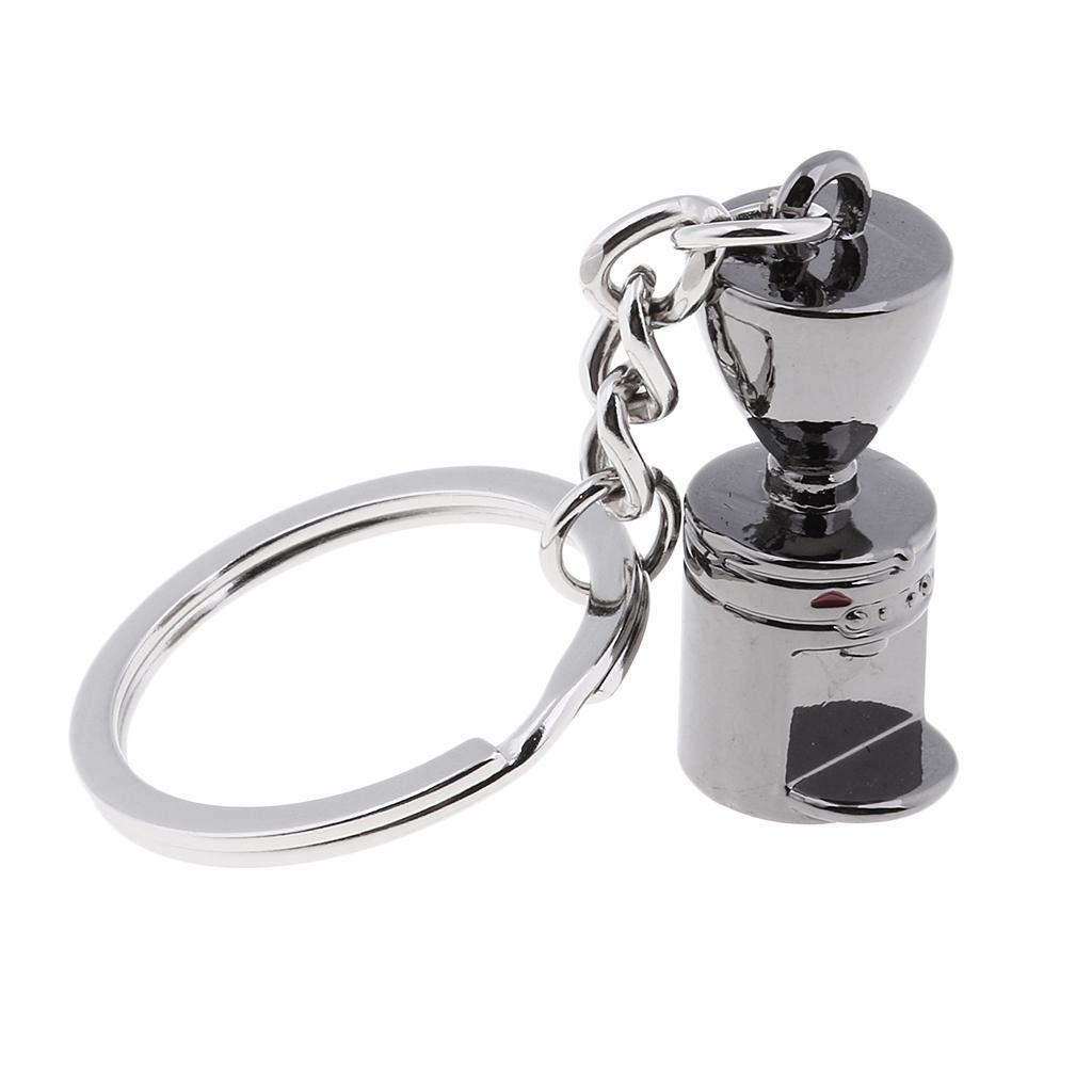 Coffee-Milk-Pitcher-Drip-Pot-Protafilter-Tamper-Keyring-Coffee-Keychain thumbnail 26
